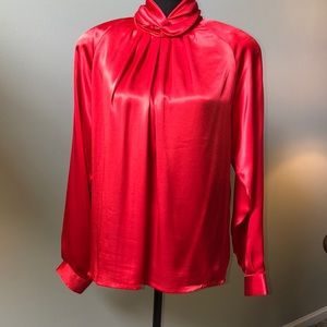 👗Justine Todd Red Polyester Blouse